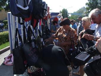 В Киселевске состоялась первая в этом году школьная ярмарка